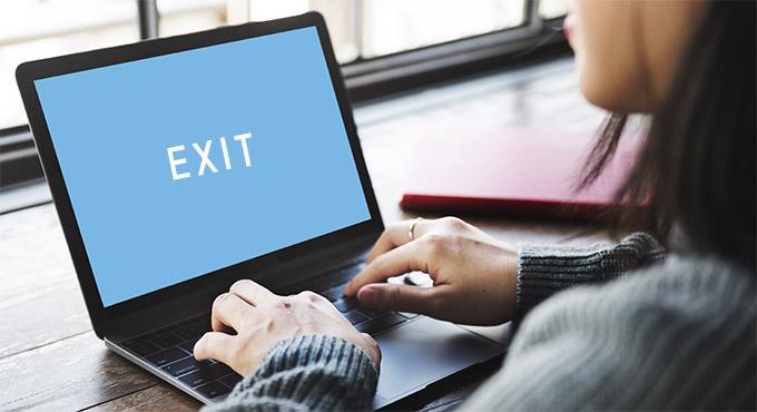 exit(退会)